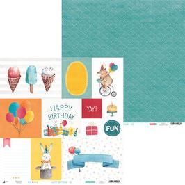 La coleccion Happy Birthday hoja 7 para recortar 30x30 cm
