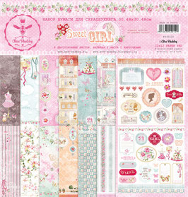PSB-25  Papel scrapbooking 30x30 cm Sweet girl