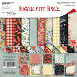 New Papel scrapbooking 20x20 cm Sugar and spice