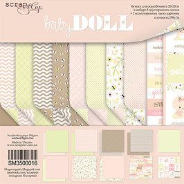 PSB-37 Papel scrapbooking 20x20 cm Baby doll