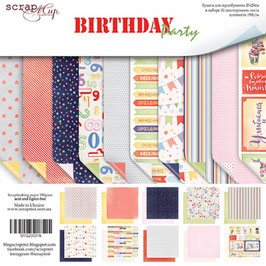 PSB-14 Papel scrapbooking 20x20 cm Birthday party