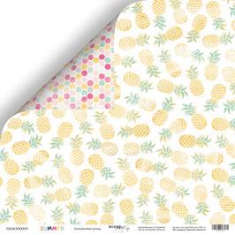 PSB-55 Hoja de la colección Summer 30,5x30,5 cm Piñas