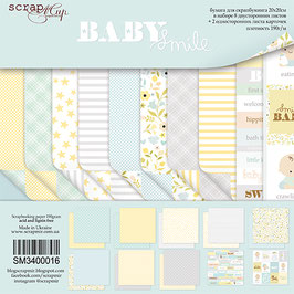 PSB-36 Papel scrapbooking 20x20 cm Baby Smile