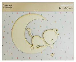 Gatito en la luna