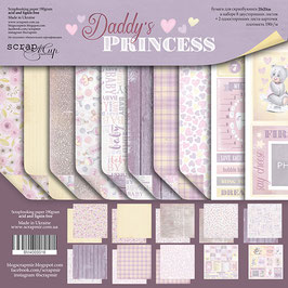 PSB-33  Papel scrapbooking 20x20 cm Daddy's princess