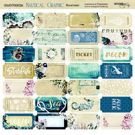 Nautical Graphic Hoja billetes 20*20 cm. NEW!