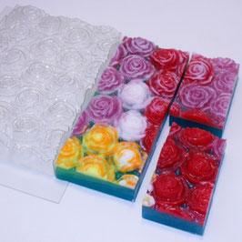 Molde grande de rosas (salen 6 piezas)