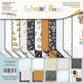 La coleccion  School days 30x30 cm Scrapmir