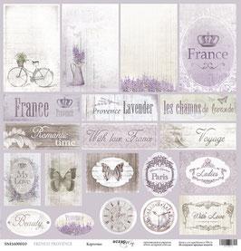 PSB-03 Papel  hoja suelta tarjetas 30x30 cm French provence