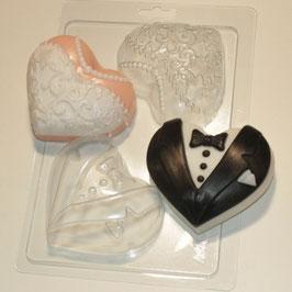 Corazones el novio y la novia