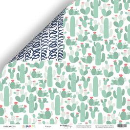 PSB-55 Hoja de la colección Summer 30,5x30,5 cm Cactus