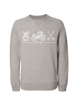 #Farmlife Sweatshirt in Heather Grey