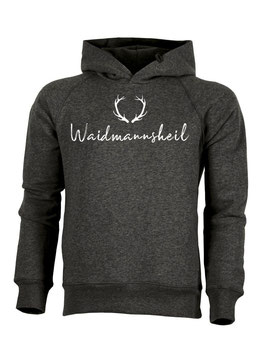 #Waidmannsheil Hoodie in Dark Heather Grey