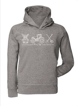 #Farmlife Hoodie in Heather Grey