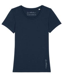 #Basic T-Shirt für Mädchen in French Navy