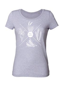 #4Jahreszeiten T-Shirt für Frauen in Light Heather Lilac