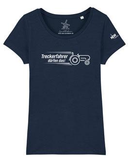 #Treckerfahrer T-Shirt für Mädchen in French Navy