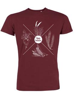 #4Jahreszeiten T-Shirt in Burgundy