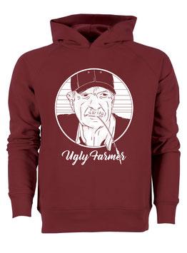 #UglyFarmer Hoodie in Burgundy
