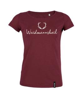 #Waidmannsheil T-Shirt für Frauen in Burgundy