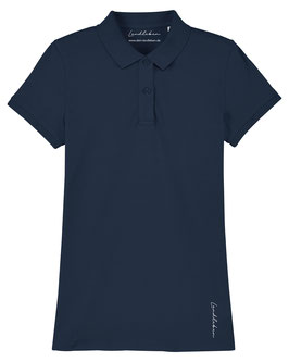 #Basic Poloshirt für Mädchen in French Navy