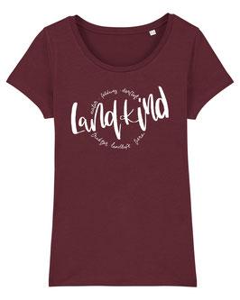 #Landkind T-Shirt für Mädchen in Burgundy