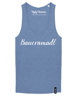 #Bauernmadl Top für Frauen in Mid Heather Blue