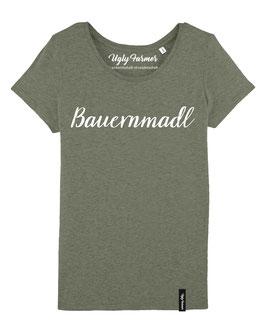 #Bauernmadl T-Shirt für Frauen in Mid Heather Khaki