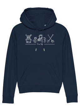 #Farmlife Hoodie für Frauen in French Navy