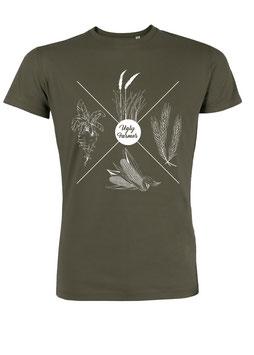 #4Jahreszeiten T-Shirt in Khaki