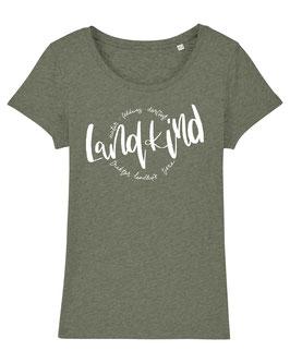 #Landkind T-Shirt für Mädchen in Mid Heather Khaki
