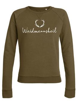 #Waidmannsheil Sweatshirt für Frauen in British Khaki
