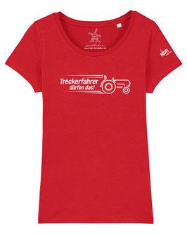 #Treckerfahrer T-Shirt für Mädchen in Red