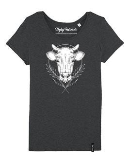 #KuhlesShirt für Frauen in Dark Heather Grey