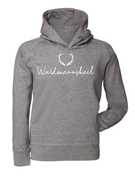 #Waidmannsheil Hoodie in Heather Grey
