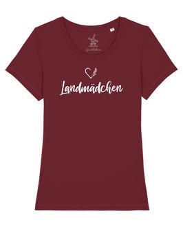 #Landmädchen T-Shirt in Burgundy