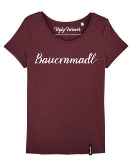 #Bauernmadl T-Shirt für Frauen in Burgundy