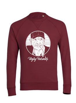 #UglyFarmer Sweatshirt in Burgundy