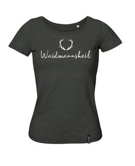 #Waidmannsheil T-Shirt für Frauen in Heather Black