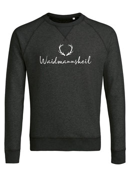 #Waidmannsheil Sweatshirt in Dark Heather Grey