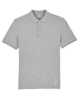 #Basic Poloshirt in Heather Grey