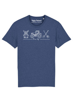 #Farmlife T-Shirt in Dark Heather Indigo