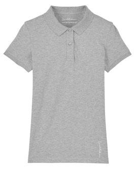 #Basic Poloshirt für Mädchen in Heather Grey