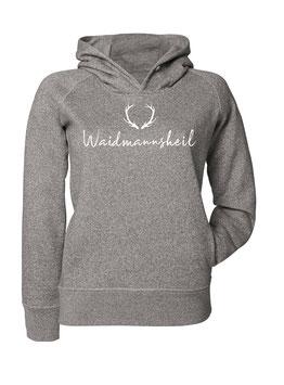 #Waidmannsheil Hoodie für Frauen in Dark Heather Grey