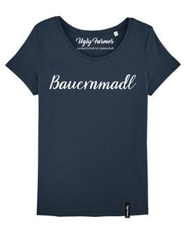 #Bauernmadl T-Shirt für Frauen in Navy