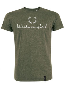 #Waidmannsheil T-Shirt in Mid Heather Khaki