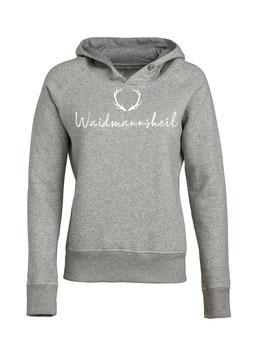 #Waidmannsheil Hoodie für Frauen in Heather Grey