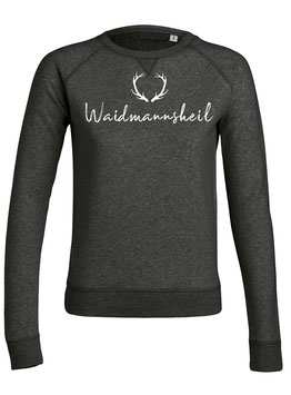 #Waidmannsheil Sweatshirt für Frauen in Dark Heather Grey