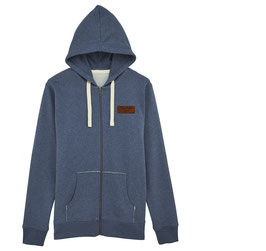 #Basic Kapuzensweatshirt in Dark Heather Blue