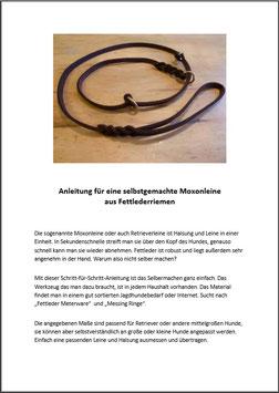 Anleitung Fettleder-Moxonleine